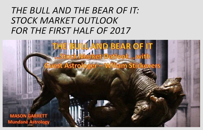 The Bull and the Bear of It - transcription of radio show appearance on Mason Garrett's mundane astrology show