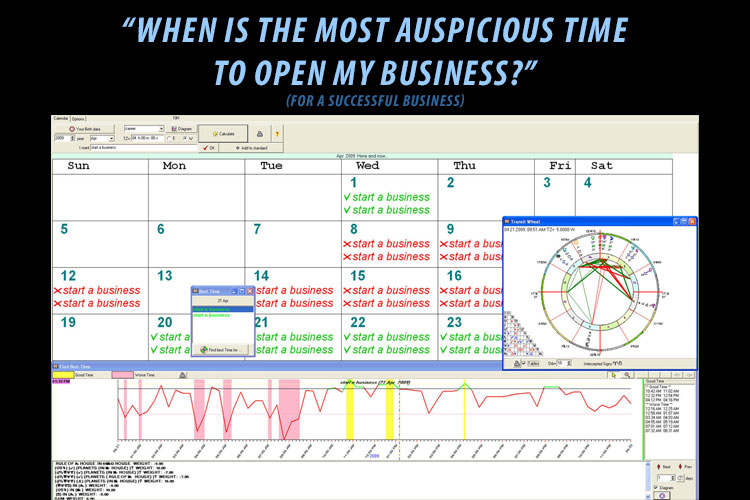 Electional Astrology - When is the most auspicious time to open my business?