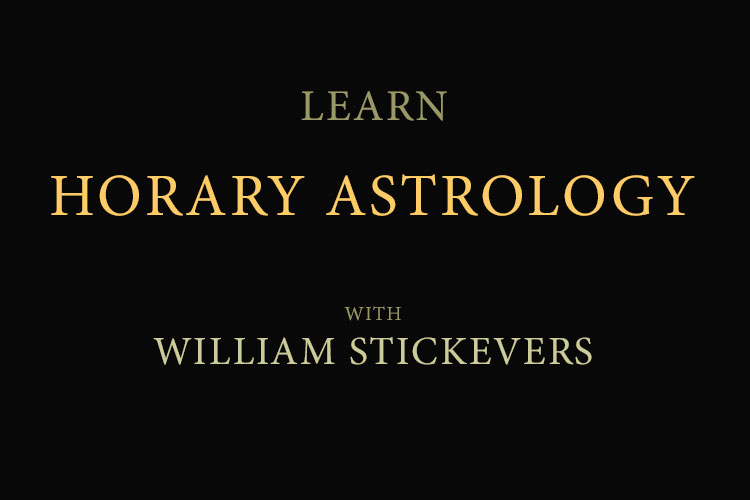 Learn horary astrology with William Stickevers
